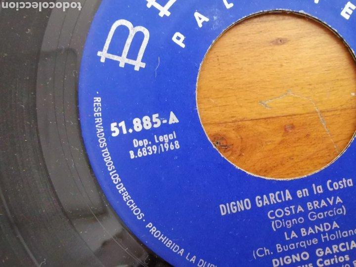 Discos de vinilo: Disco de vinilo de 45rpm de Digno García, En la Costa Brava. de 1968 - Foto 2 - 233704535