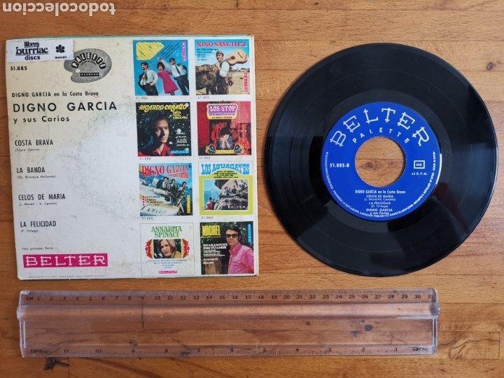Discos de vinilo: Disco de vinilo de 45rpm de Digno García, En la Costa Brava. de 1968 - Foto 6 - 233704535