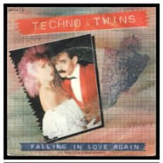 Discos de vinilo: XX SINGLE, TECHNO TWINS, FALLING IN LOVE AGAIN Y DONALD AND JULIE GO BOATING.. Lote 233729615