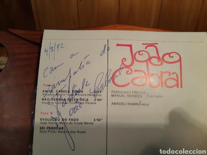 Discos de vinilo: Antiguo disco de vinilo de Fados por Joao cabral con autógrafo del cantante - Foto 3 - 233733615