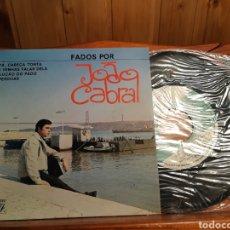 Discos de vinilo: ANTIGUO DISCO DE VINILO DE FADOS POR JOAO CABRAL CON AUTÓGRAFO DEL CANTANTE. Lote 233733615