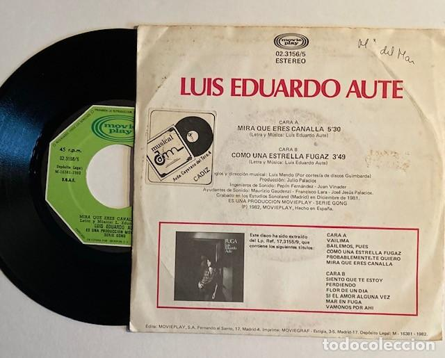 Discos de vinilo: LUIS EDUARDO AUTE - MIRA QUE ERES CANALLA - Foto 2 - 233754135