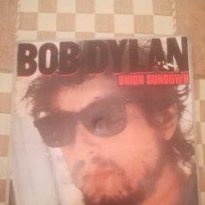 Discos de vinilo: BOB DYLAN.UNION SUNDOWN/ANGEL FLYING TOO CLOSE TO THE GROUND.SINGLE.CBS A-3916.ESPAÑA 1983.. Lote 233760210