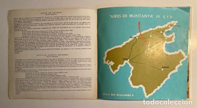 Discos de vinilo: FESTA DE PAGESIA - AIRES DE MUNTANYA - SELVA - MALLORCA - 1965 - Foto 3 - 233801320