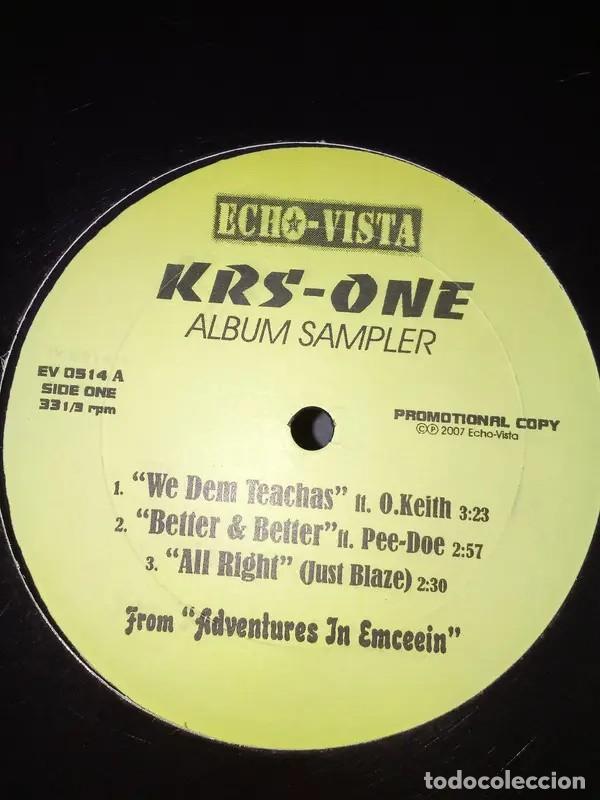 KRS-ONE - ALBUM SAMPLER - EP VINILO (Música - Discos de Vinilo - EPs - Rap / Hip Hop)