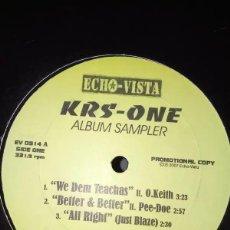 Discos de vinilo: KRS-ONE - ALBUM SAMPLER - EP VINILO. Lote 233811125