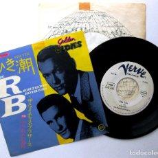Discos de vinilo: THE RIGHTEOUS BROTHERS - EBB TIDE - SINGLE VERVE PROMO JAPAN (EDICIÓN JAPONESA) BPY. Lote 233824515