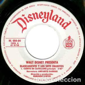 Discos de vinilo: WALT DISNEY - BLANCANIEVES Y LOS SIETE ENANITOS - EP CUENTO-DISCO BRUGUERA 1967 - Foto 2 - 233845510