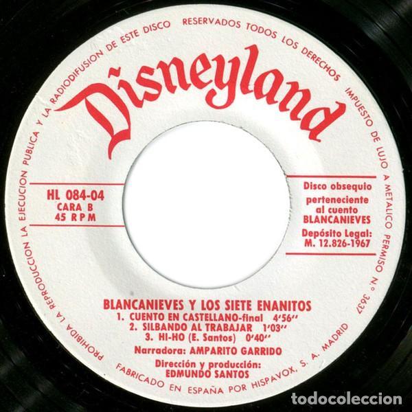 Discos de vinilo: WALT DISNEY - BLANCANIEVES Y LOS SIETE ENANITOS - EP CUENTO-DISCO BRUGUERA 1967 - Foto 3 - 233845510