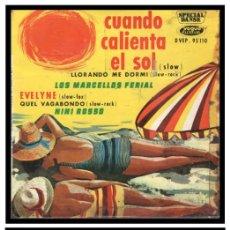 Discos de vinilo: XX SINGLE, NINI ROSSO, CUANDO CALIENTA EL SOL, QUEL VAGABUNDO, EVELYNE Y LLORANDO ME DORMI.. Lote 233876515