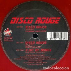 """Dischi in vinile: DISCO ROUGE - DISCO ROUGE (12"""", RED) (DJ APPROVED) APP 9701. Lote 233898440"""