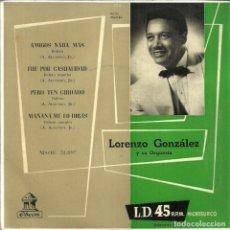 Discos de vinilo: LORENZO GONZÁLEZ Y SU ORQUESTA - ODEON - 50'S. Lote 233902045