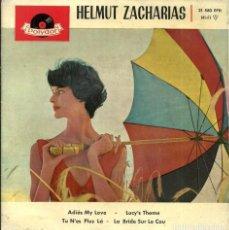 Discos de vinilo: HELMUT ZACHARIAS - ADIOS MY LOVE / LUCY'S THEME / TU N'ES PLUS LÁ / LA BRIDE SUR LE COU - 1961. Lote 233903920