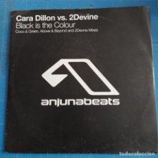 "Discos de vinilo: CARA DILLON VS. 2DEVINE - BLACK IS THE COLOUR (12"") (ANJUNABEATS) ANJ-073. Lote 233907485"