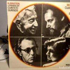 Discos de vinilo: LP RUBINSTEIN Y MIEMBROS DEL CUARTETO GUARNERI : MOZART, CUARTETOS CON PIANO. Lote 233916675