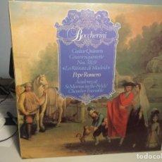 Discos de vinilo: LP BOCCHERINI : GUITAR QUINTETS ( PEPE ROMERO & ACADEMY OF ST. MARTIN-IN-THE-FIELDS). Lote 233917040