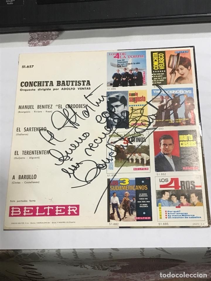 Discos de vinilo: Disco con dedicatoria firmada , de Conchita Bautista,BELTER Referencia 51657, impecable - Foto 2 - 233929700