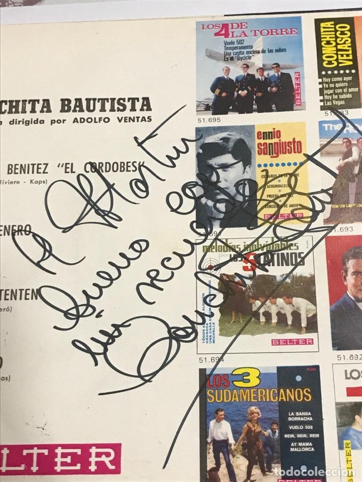 Discos de vinilo: Disco con dedicatoria firmada , de Conchita Bautista,BELTER Referencia 51657, impecable - Foto 3 - 233929700