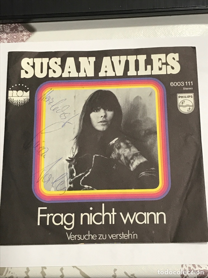 DISCO SUSAN AVILES FIRMADO Y DEDICADO, PHILIPS REF 6003111, SIN USAR (Música - Discos de Vinilo - EPs - Pop - Rock Extranjero de los 70)