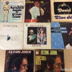 Dischi in vinile: ELTON JOHN - LOTE DE 8 SINGLES. Lote 233951565