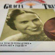 Discos de vinilo: GRACIA DE TRIANA - ANTOLOGÍA DE LA CANCIÓN ESPAÑOLA, Nº 6 - LP. SELLO EMI. Lote 233963300