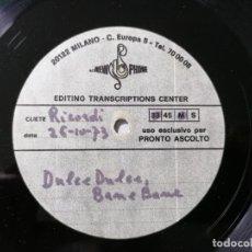 Discos de vinilo: DISCO SINGLE UNA SOLA CARA, PARECE PROMOCION, DULCE DULCE, BANE BANE, 1973, NEW PHONE. Lote 233973315