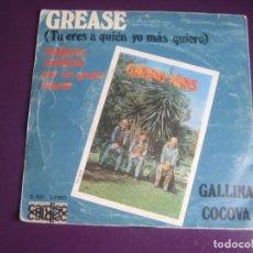 Discos de vinilo: GRUPO NINS - GREASE - SG CARDISC 1978 - GALLINA CO CO UA - MUSICA INFANTIL 70'S. Lote 233976845