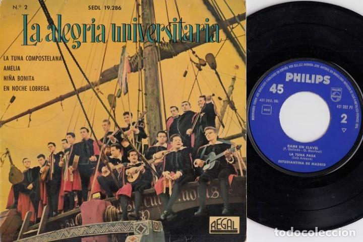 TUNA LA ALEGRIA UNIVERSITARIA - LA TUNA COMPOSTELANA - EP DE VINILO (Música - Discos de Vinilo - EPs - Étnicas y Músicas del Mundo)