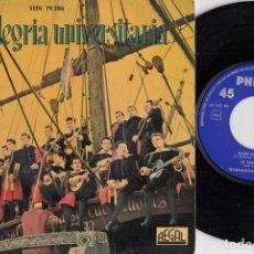 Discos de vinilo: TUNA LA ALEGRIA UNIVERSITARIA - LA TUNA COMPOSTELANA - EP DE VINILO. Lote 233978920