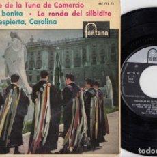 Discos de vinilo: TUNA DE LA ESCUELA SUPERIOR DE COMERCIO - PASACALLE DE LA TUNA DE COMERCIO - EP DE VINILO. Lote 233979160