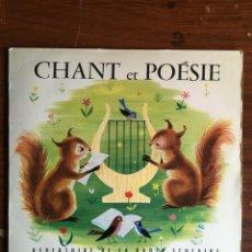 """Discos de vinilo: EP 7"""" CHANT ET POESIE (E862), ENCICLOPEDIA SONORA, FRANCESA 1962. Lote 233980825"""