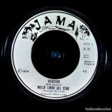 Discos de vinilo: TINGA STEWART / WILLIE LINDO ALL STAR - YOU SHOULD NEVER DO THAT - SINGLE UK 1976 - JAMA. Lote 233981045