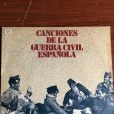 """Discos de vinilo: EP 7"""" CON 4 TEMAS """"CANCIONES DE LA GUERRA CIVIL ESPAÑOLA"""". Lote 233987260"""