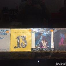 Discos de vinilo: ORQUESTA PLATERIA. 4 SINGLES.. Lote 234018345