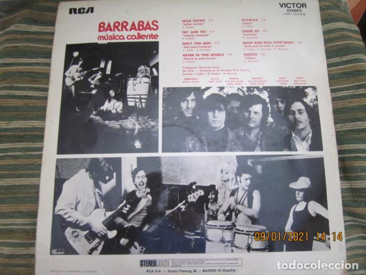 Discos de vinilo: BARRABAS - MUSICA CALIENTE LP -ORIGINAL ESPAÑOL - RCA RECORDS 1972 - STEREO - - Foto 2 - 234027270