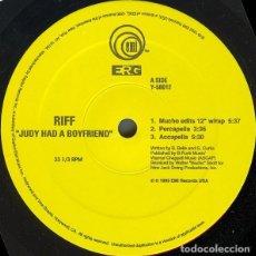 Discos de vinilo: RIFF – JUDY HAD A BOYFRIEND. Lote 234038760