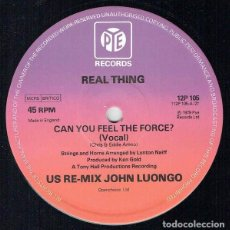Discos de vinilo: REAL THING – CAN YOU FEEL THE FORCE? (US RE-MIX). Lote 234039110