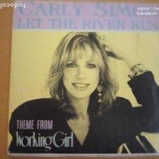 Discos de vinilo: CARLY SIMON LET THE RIVER SUN SINGLE. Lote 234064905