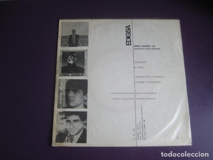 Discos de vinilo: Enric Barbat – Canta Les Seves Cançons (III) - EP EDIGSA 1967 - LENDEMA +3 - CATALUNYA FOLK CANÇO - Foto 3 - 234100150