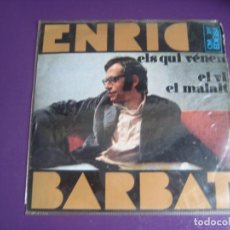 Discos de vinilo: ENRIC BARBAT CANTA LES SEVES CANÇONS (IV) EP EDIGSA 1968 - ELS QUI VÉNEN +3 - CATALUNYA FOLK CANÇO. Lote 234100750