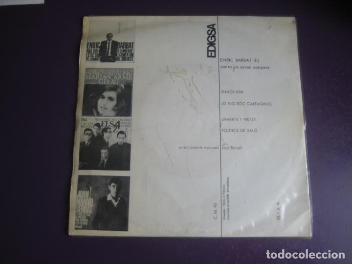Discos de vinilo: Enric Barbat Canta Les Seves Cançons (I1) EP EDIGSA 1966 - Snack-Bar +3 - CATALUNYA FOLK CANÇO - Foto 2 - 234101050