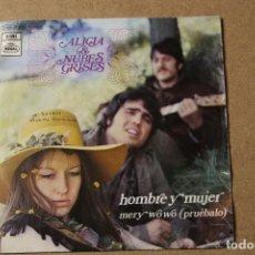 Discos de vinilo: SINGLE ALICIA Y NUBES GRISES. Lote 234102215
