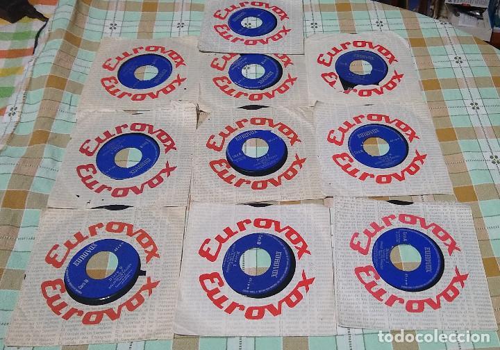 10 SINGLES EUROVOX INGLES DE LOS INGLESES 1966 (Música - Discos - Singles Vinilo - Otros estilos)