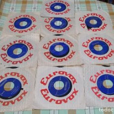 Discos de vinilo: 10 SINGLES EUROVOX INGLES DE LOS INGLESES 1966. Lote 234102795