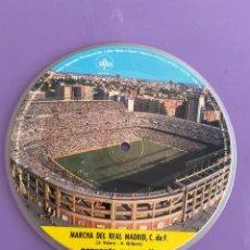 Discos de vinilo: SINGLE PICTURE. HIMNO Y MARCHA REAL MADRID C.F.MARINO-VILLENA Y ORQUESTA MARAVELLA. Lote 234103480