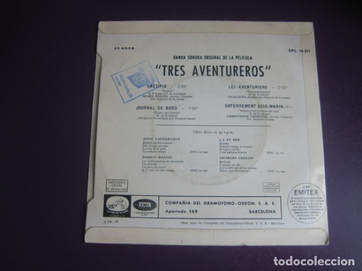 Discos de vinilo: Alain Delon – BSO CINE Les Aventuriers - EP LA VOZ DE SU AMO 1967 - LAETITIA +3 - FRANCIA 60S - Foto 2 - 234108465