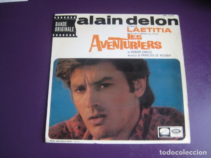 ALAIN DELON – BSO CINE LES AVENTURIERS - EP LA VOZ DE SU AMO 1967 - LAETITIA +3 - FRANCIA 60'S (Música - Discos de Vinilo - EPs - Bandas Sonoras y Actores)