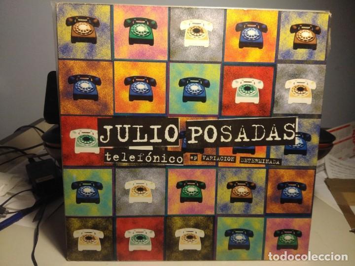 MAXI JULIO POSADAS : TELEFONICO EP VARIACION DETERMINADA (Música - Discos de Vinilo - Maxi Singles - Solistas Españoles de los 70 a la actualidad)