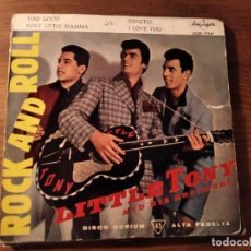 Discos de vinilo: LITTLE TONY & HIS BROTHERS - ROCK AND ROLL ***** RARO EP ESPAÑOL 1960!. Lote 234134925