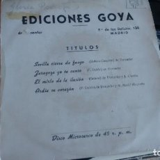 Discos de vinilo: E.P. (VINILO) DE OSCAR MANJARIN-GLORIA PEIRÓ-ENRIQUE ZAMORA CON LA ORQUESTA DE JAIME POCOVÍ. Lote 234167320